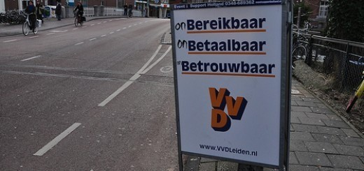 Defaced election for the VVD party
