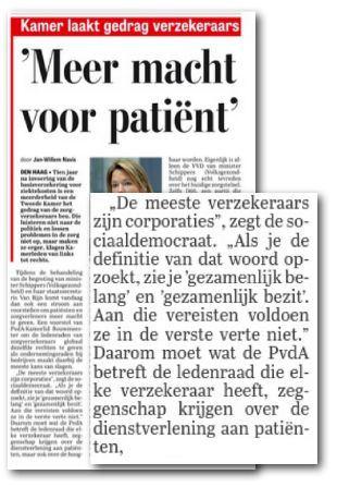 In De Telegraaf, 4 november.