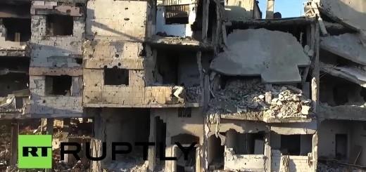 Beelden:Dit is er nog over van Homs, Syrië