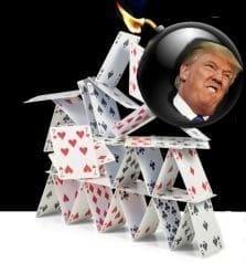 Trump kaartenhuis
