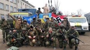 Members of the Israeli funded neo-nazi Azov battalion
