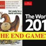 Altijd een mysterie die cover van The Economist deze is zo zwart als maar kan, instorting wereld economie?