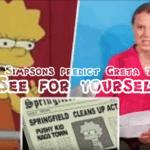 The Simpsons voorspelden Greta Thunberg en haar speech of heeft ze het gejat?