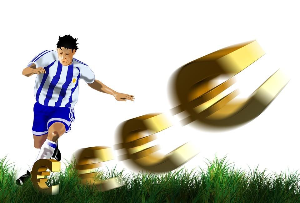 Voetbal, sport, geld, waarde, spelers, schieten, schot