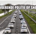 Alleen de politie mag op de snelweg actievoeren! Politie tolereert geen tractoren meer op de snelweg, meteen boete
