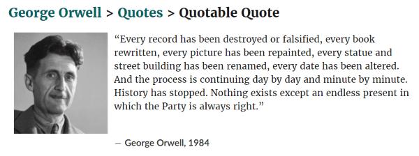 george orwell geschiedenis herschrijven