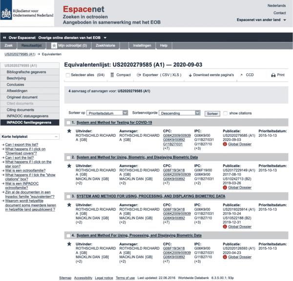 corona patent rothschild