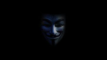 blue and black mask illustration